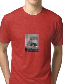 The sea goes to Work and I go to Play Tri-blend T-Shirt