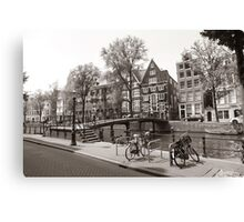 Lonely Bicycles Canvas Print
