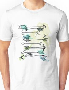 """Courage"" Watercolor Arrow Artwork Unisex T-Shirt"