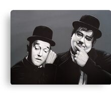 Laurel and Hardy Painting Canvas Print