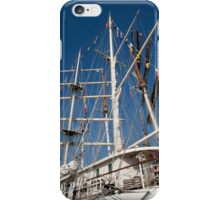 Tenacious rigging against a blue sky iPhone Case/Skin
