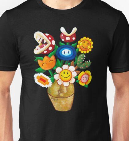 Mario Van Gogh's Flower Vase Unisex T-Shirt