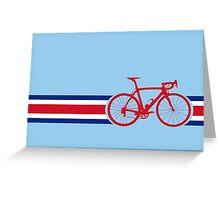 Bike Stripes Coata Rica Greeting Card