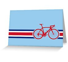 Bike Stripes Coata Rica Greeting Card
