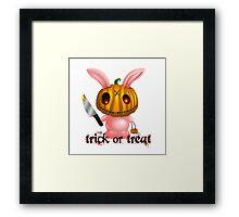 halloween bunny Framed Print