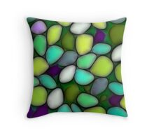 Abstract mosaic multicolored background Throw Pillow