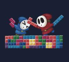 Shy Guys Playing Tetris One Piece - Long Sleeve