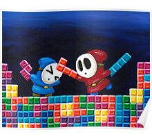 Shy Guys Playing Tetris Poster