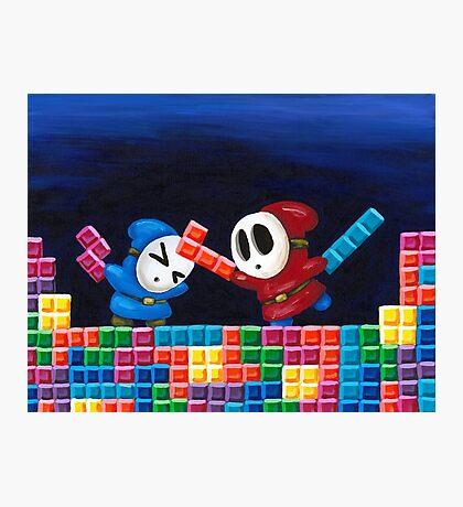Shy Guys Playing Tetris Photographic Print