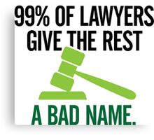 99 Of Lawyers 1 (dd)++ Canvas Print