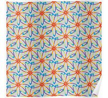 Floral abstract color pattern Poster