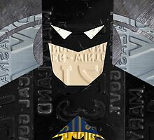 Batman The Dark Knight Recycled License Plate Art by designturnpike