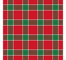 Bold Red, Green and White Holiday Christmas Plaid Photographic Print