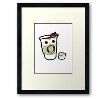 Kawaii Coffee Framed Print