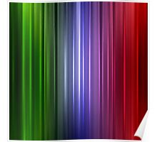 Abstract glowing color line Poster