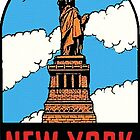 Statue of Liberty New York Vintage Travel Decal by hilda74
