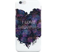 Shopping neon heart iPhone Case/Skin