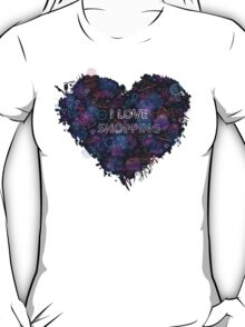 Shopping neon heart T-Shirt