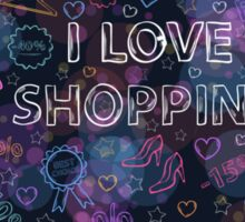 Shopping neon heart Sticker