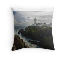 Morning at the Lighthouse Throw Pillow