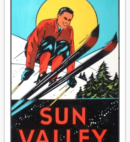 Sun Valley Idaho Skiing Vintage Travel Decal Sticker