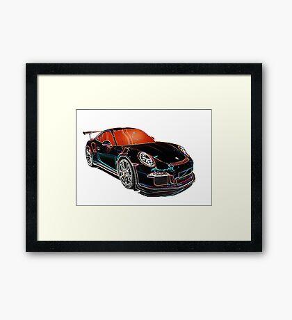 SUPERCAR PORSCHE Framed Print