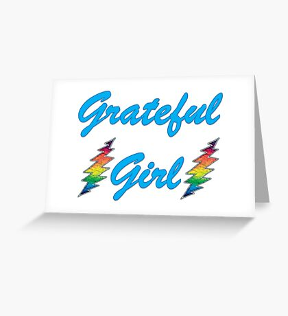 Grateful Girl Bolts Greeting Card