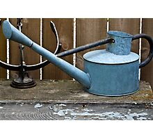 Vintage Watering Can In The Garden Photographic Print