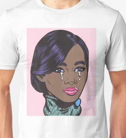 Pastel African American Crying Comic Girl Unisex T-Shirt