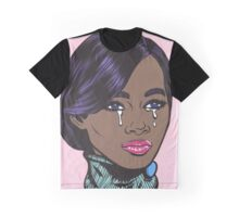 Pastel African American Crying Comic Girl Graphic T-Shirt