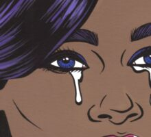 Pastel African American Crying Comic Girl Sticker