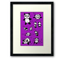 Panda Doodles Framed Print