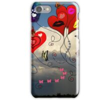 Balloons, Bows & Butterflies iPhone Case/Skin