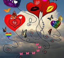 Balloons, Bows & Butterflies by WildestArt