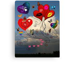 Balloons, Bows & Butterflies Canvas Print