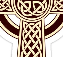 Sepia Celtic Cross Sticker