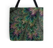Iridescent Feathers Fractal Art Tote Bag
