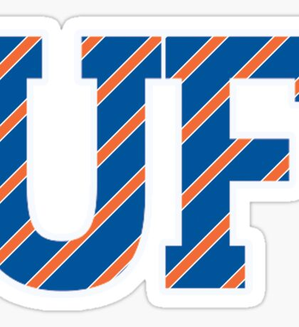 UF Striped Logo Sticker