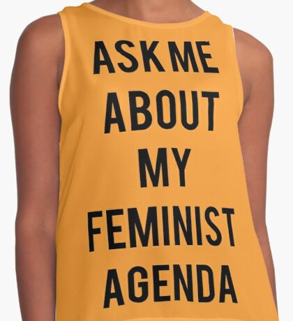 Ask me about my Feminist Agenda Contrast Tank