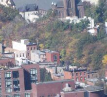 Harsimus Branch Embankment, Aerial View, Jersey City, New Jersey Sticker