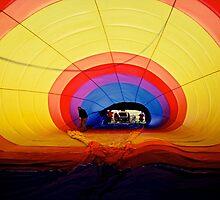 Inside The Hot Air Balloon Mildura Victoria by Ronald Rockman