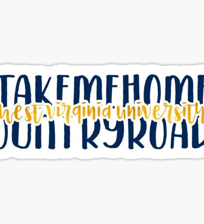 West Virginia University - Style 9 Sticker