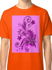 Pink and purple, floral design Classic T-Shirt