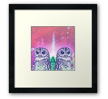 Techno Owls Framed Print