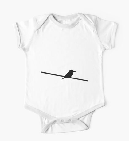 Black & red bird on a wire One Piece - Short Sleeve