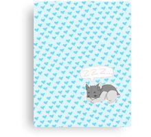 Sleepy Hamster Canvas Print