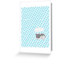 Sleepy Hamster Greeting Card