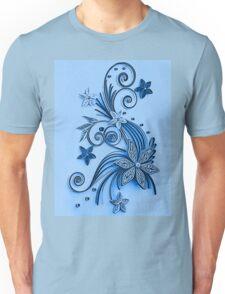 Blue ornament, floral design Unisex T-Shirt