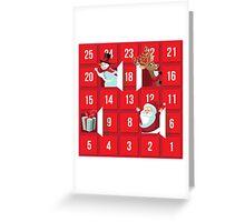 Cartoon Christmas Advent Calendar Greeting Card