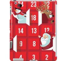 Cartoon Christmas Advent Calendar iPad Case/Skin